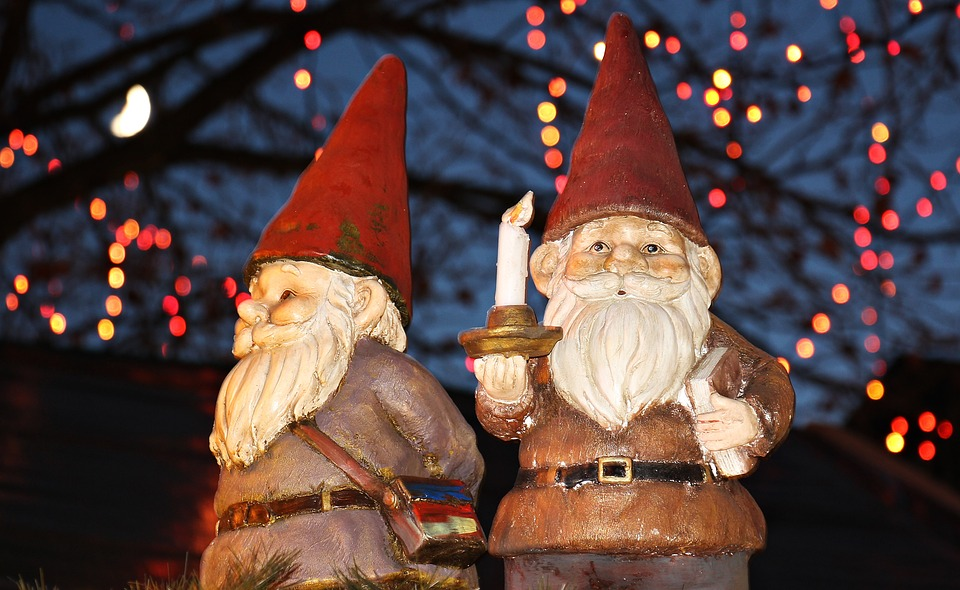 """Legend has it the Heinzelmännchen or """"gnomes"""" are responsible for the Christmas splendor at the markets."""