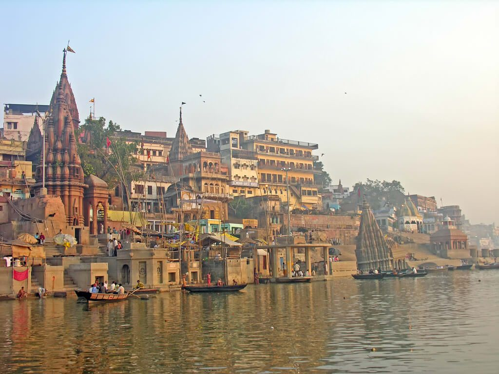 Temples on the Ganges River in Varanasi