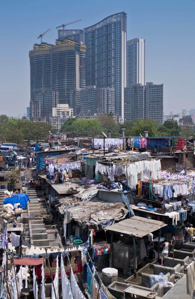 Slums and high-rises of Mumbai.