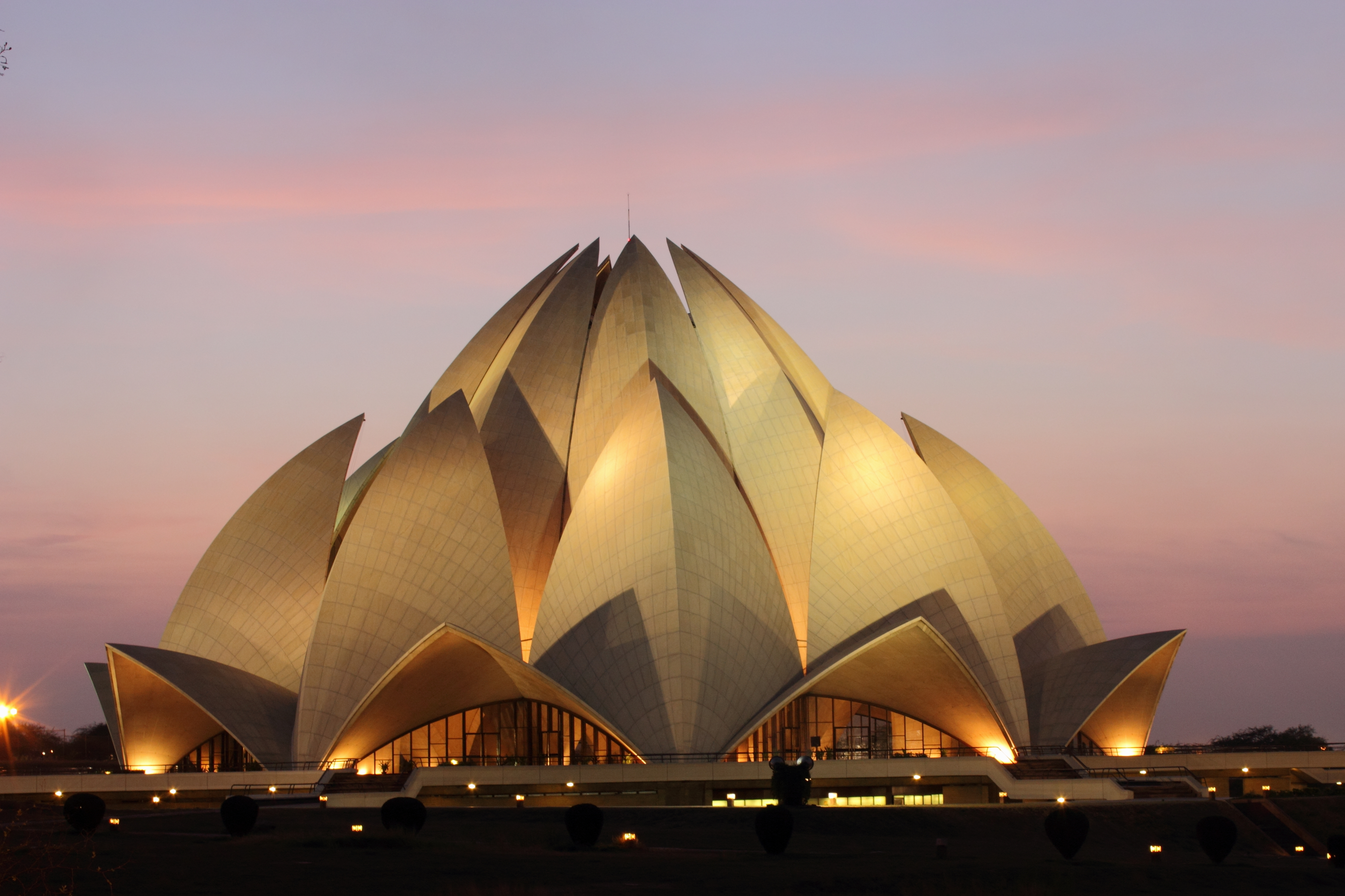 Lotus Temple at sunset