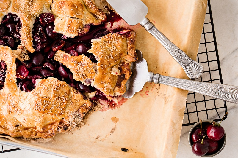 Slice of berry pie