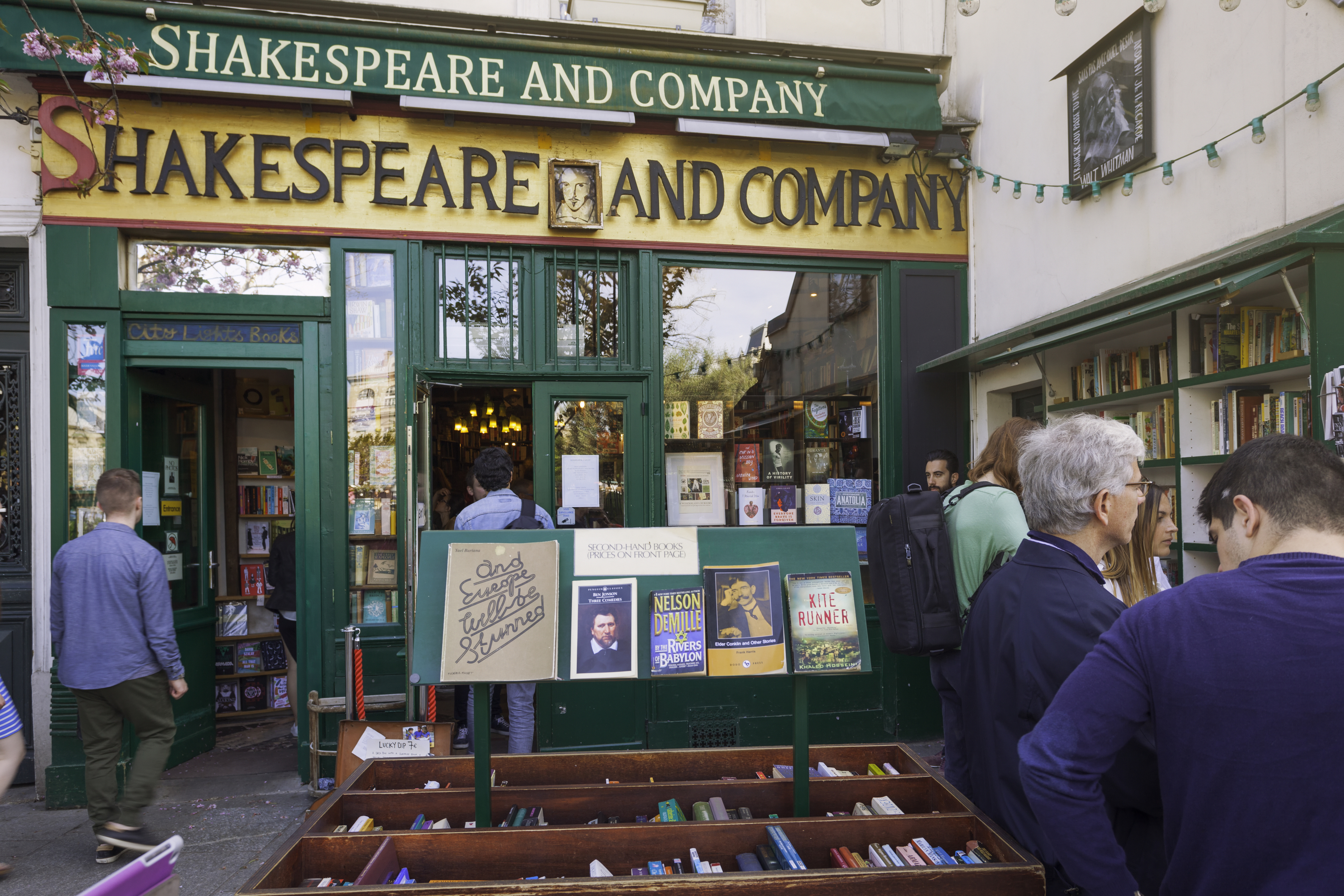 Front of Shakespeare and Company bookstore