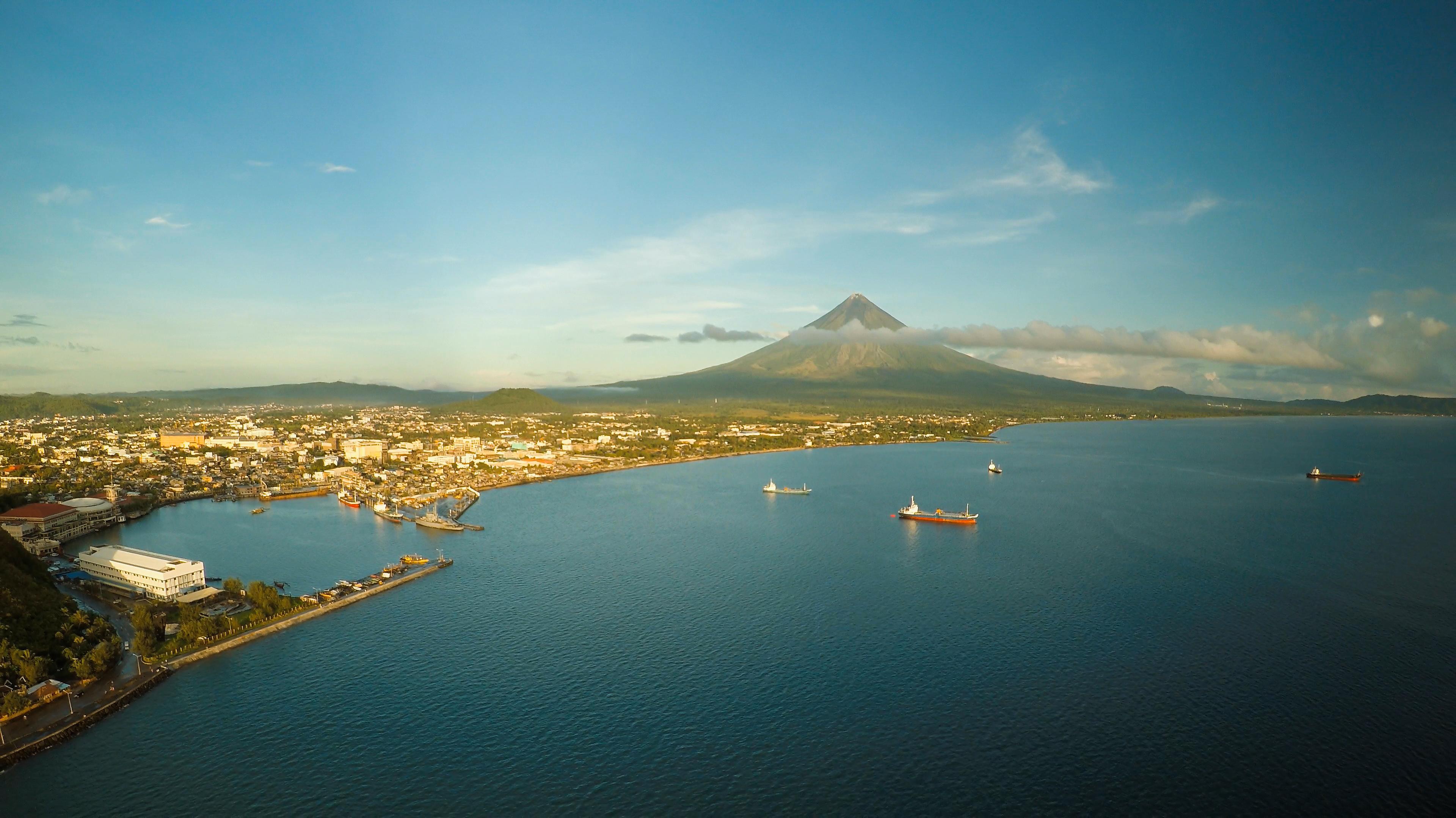Mayon Volcano and Legazpi Port