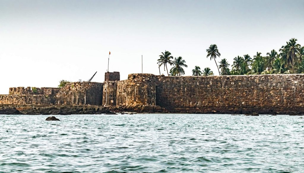 Ancient fort in Maharastra along the Arabian Sea