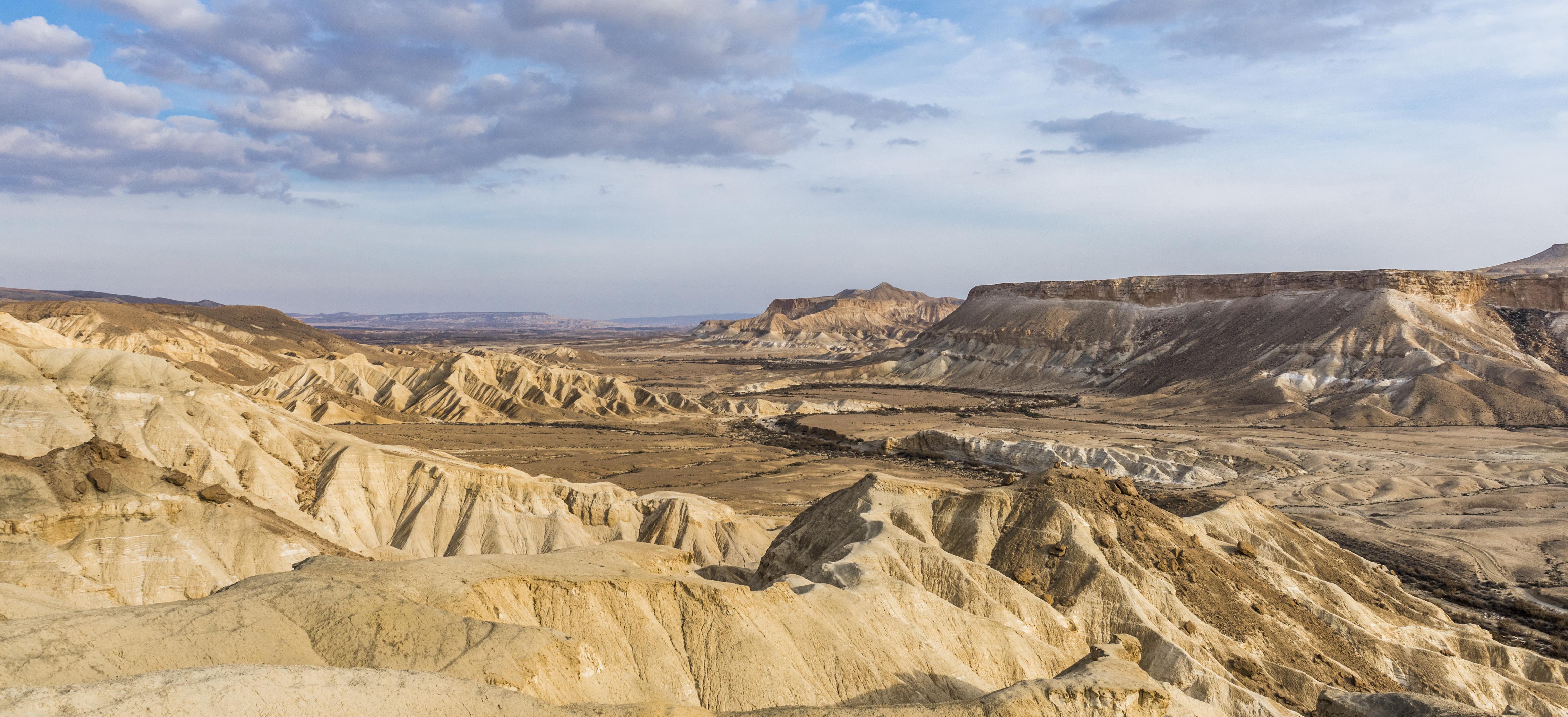 mountain terrain of the Negev Desert