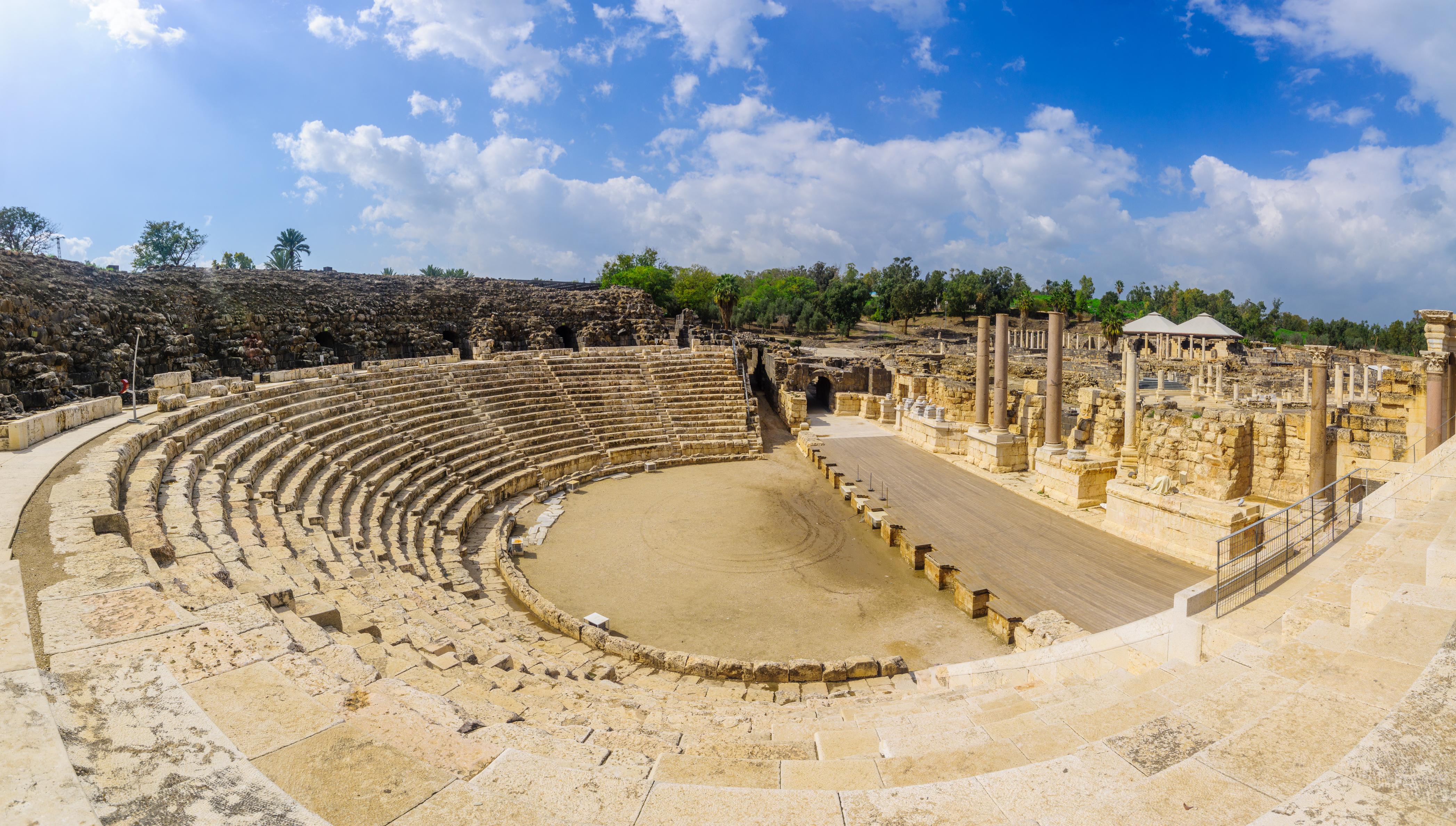 roman amphitheater in beit she'an