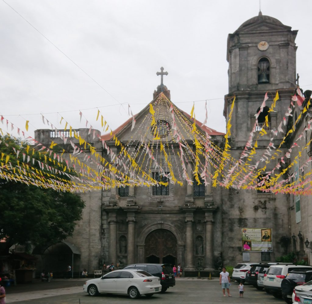 San Agustin Church of Intramuros with paper streamers.