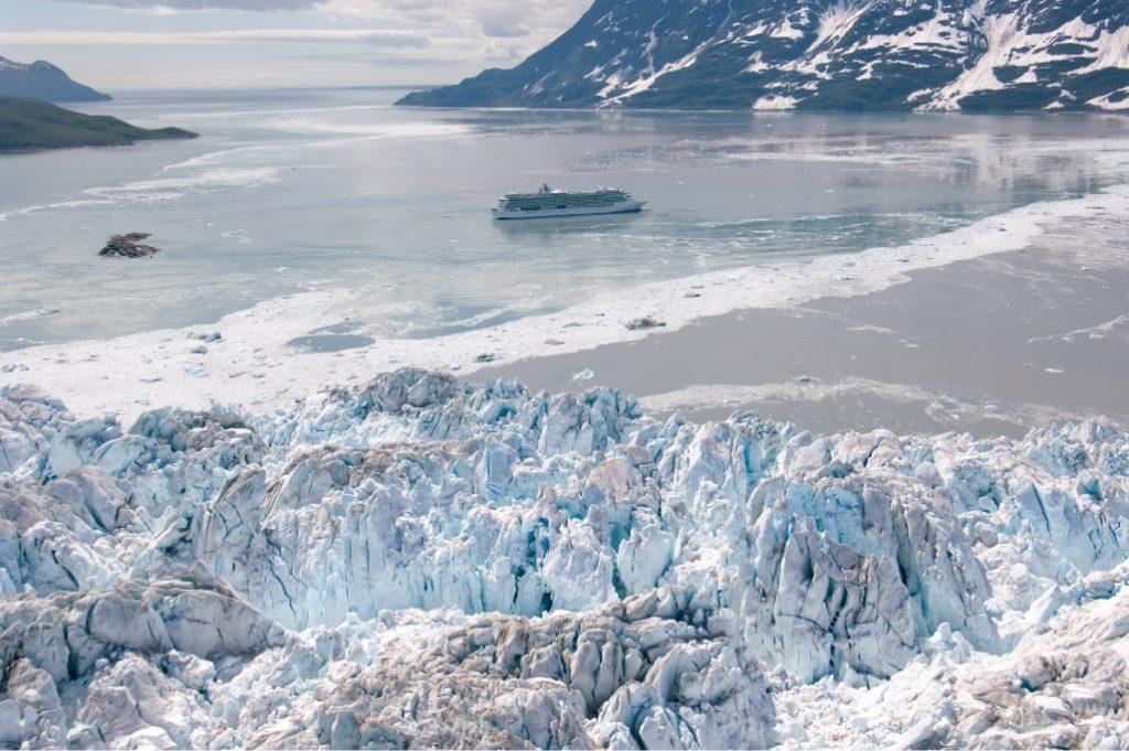 boat tour takes visitors up close to Alaska's glaciers