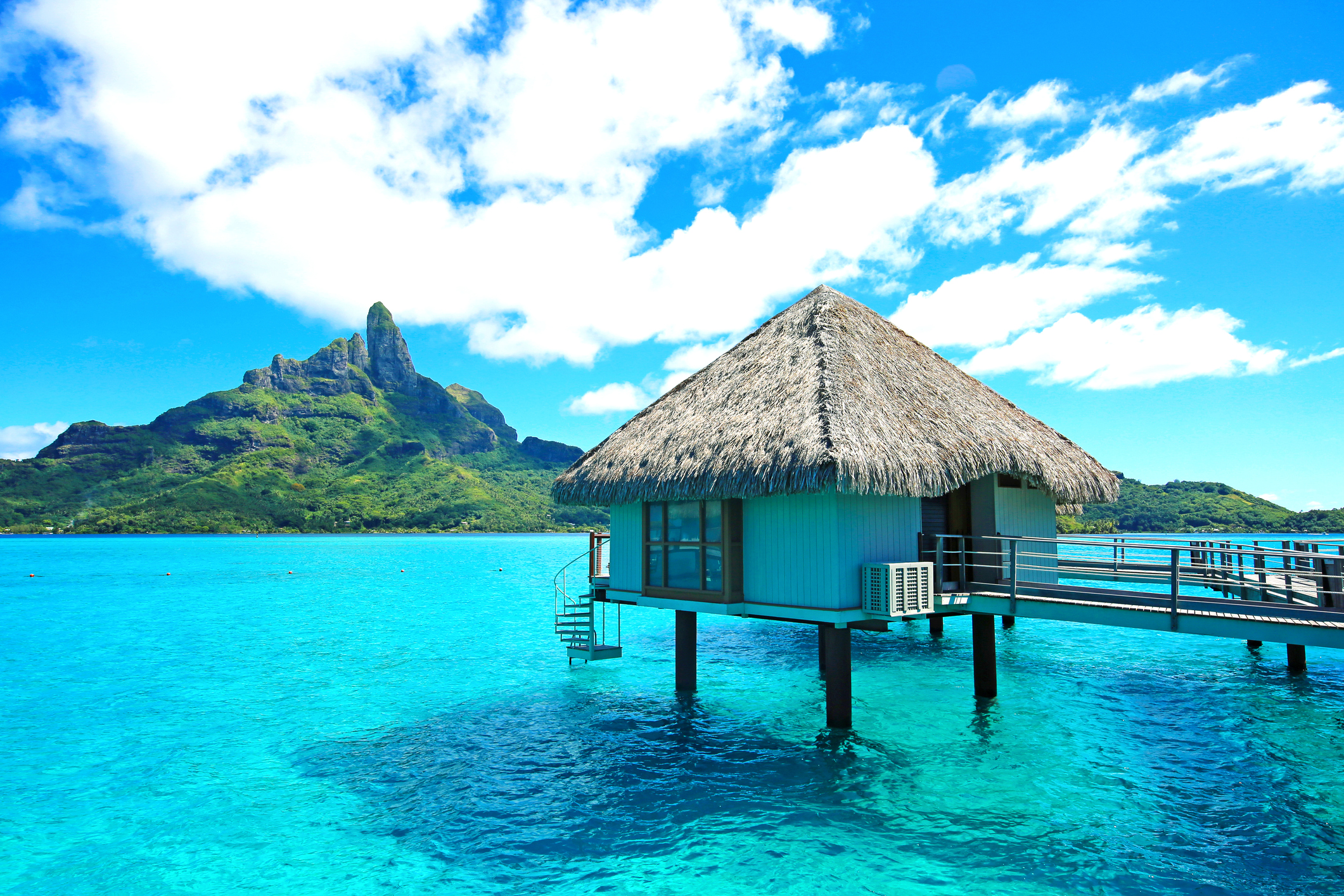 bungalow in bora bora