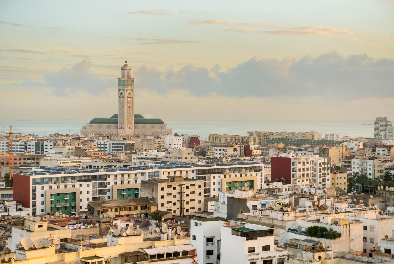 Casablanca, Morocco with Hassan II Mosque