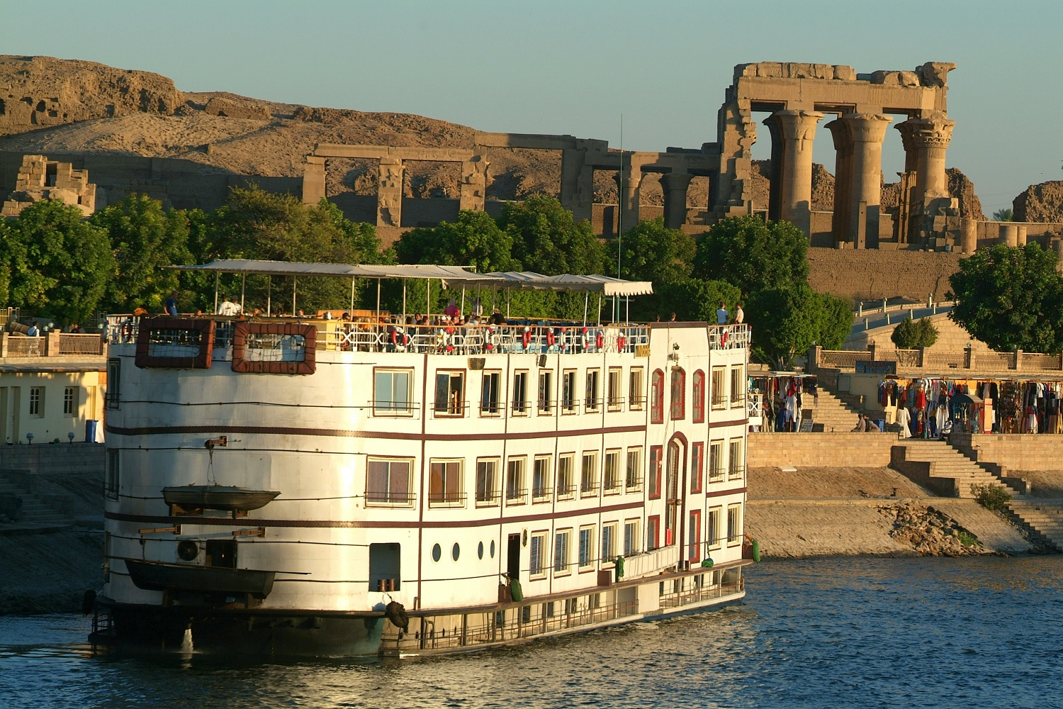 Cruise ship on the Nile River