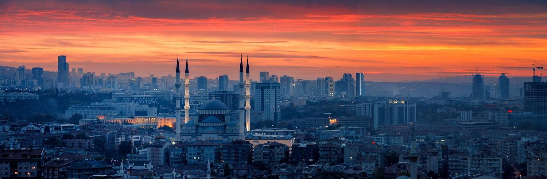 ankara cityscape at sunset-turkey