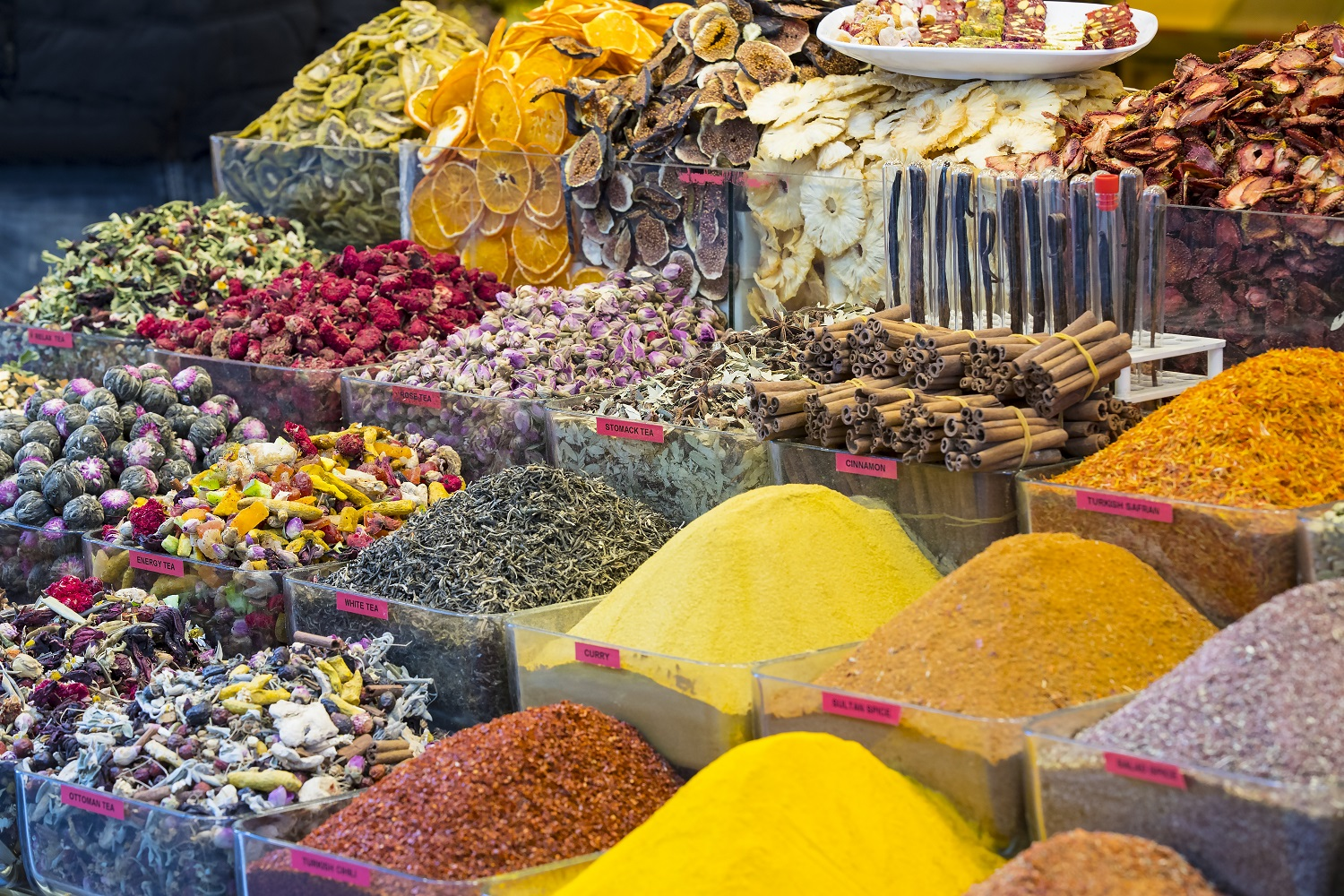spices at the Egyptian spice market-turkey