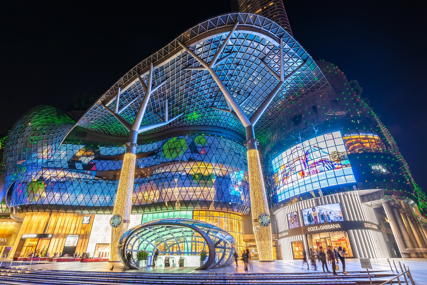 Mall facade on Orchard Road-Singapore