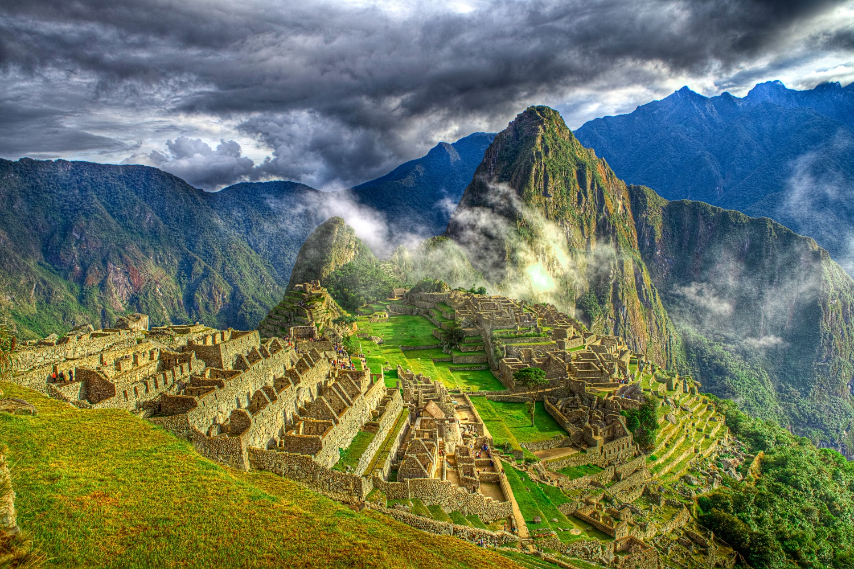 Machu Picchu in Peru-cloudy sky